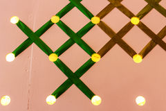 Hintergrundbeleuchtete Löcher des Hintergrundes stockbild