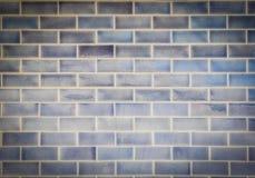 Hintergrundbeschaffenheit des blauen Ziegelsteines Lizenzfreie Stockfotografie