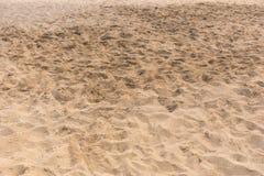 Hintergrundbeschaffenheit des goldenen Strandsandes stockbild