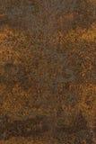 Hintergrundbeschaffenheit des rostigen orange braunen Rosts alte Metall Stockfoto