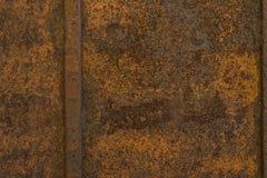 Hintergrundbeschaffenheit des rostigen orange braunen Rosts alte Metall Lizenzfreie Stockfotos