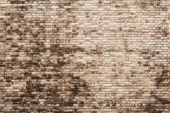 Hintergrundbeschaffenheit einer alten Backsteinmauer Stockfotografie