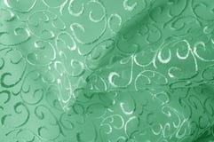 Hintergrundbeschaffenheit, Muster grünes Tulle Addieren Sie eine antike Note t Stockbild