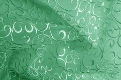 Hintergrundbeschaffenheit, Muster grünes Tulle Addieren Sie eine antike Note t Lizenzfreies Stockbild
