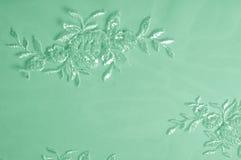Hintergrundbeschaffenheit, Muster grünes Tulle Addieren Sie eine antike Note t Lizenzfreies Stockfoto
