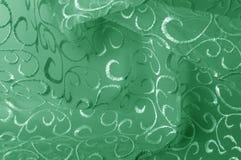 Hintergrundbeschaffenheit, Muster grünes Tulle Addieren Sie eine antike Note t Stockfotos