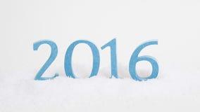 Hintergrundblau mit 2016 Texten Lizenzfreie Stockfotografie