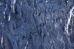 Hintergrundblau mit Weiß adert Naturstein Stockfoto