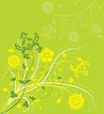 Hintergrundblume, Elemente für Auslegung, Vektor Lizenzfreies Stockbild