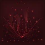 Hintergrundburgunder-Blätter vektor abbildung
