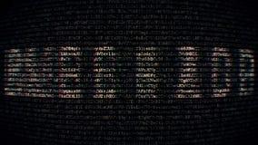Hintergrundcodeart mit Textpasswort stock video footage