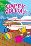 Hintergrunddesign frohe Feiertage Stockfotos