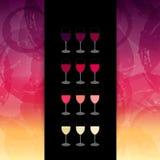 Hintergrundflecke und Farben des Weins Schablone für Weinliste oder Vektor Abbildung