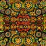Hintergrundform geometrisch, goldene Farbe stock abbildung