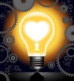Hintergrundgänge mit Lampe und Innerem Stockbilder
