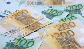 Hintergrundgeld Europa Stockbild