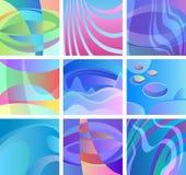Hintergrundglühenzusammenfassungs-Designsatz Stockfoto