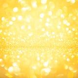 Hintergrundgold-bokeh unscharf Stockbild