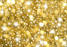 Hintergrundgold und -sterne Lizenzfreies Stockfoto