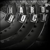Hintergrundhardrock mit Metallmechanismus Stockbild