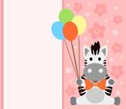 Hintergrundkarte mit Zebra Lizenzfreie Stockfotos