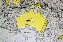 Hintergrundkarte von Australien Lizenzfreie Stockfotografie