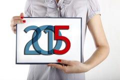 Hintergrundkonzept 2015 des neuen Jahres Stockfoto