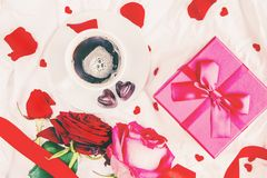 Hintergrundliebe und romantisches Selektiver Fokus geliebter stockfoto