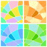 Hintergrundmosaik mit Mustern Stockfotografie