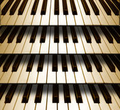 Hintergrundmusik-Klaviertastatur Stockfoto
