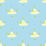 Hintergrundmuster-Zusammenfassungszeichnung des Hutes weibliche blaue Lizenzfreie Stockfotos