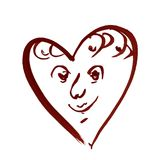 Hintergrundmusterherzgesichtsliebes-Valentinsgrußtagesnasse Wäsche des Aquarells verwischte abstrakte Dekorationshandschönes wall Lizenzfreie Stockbilder
