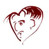 Hintergrundmusterherzgesichtsliebes-Valentinsgrußtagesnasse Wäsche des Aquarells verwischte abstrakte Dekorationshandschönes wall Lizenzfreies Stockbild