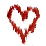 Hintergrundmusterherzliebes-Valentinsgrußtagesnasse Wäsche des Aquarells verwischte abstrakte Dekorationshandschönes wallpape Lizenzfreies Stockbild
