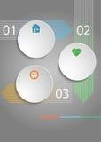 Hintergrundplanschablonen-Abdeckung broch des Geschäfts infographic graues Stockbild