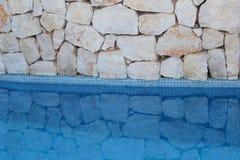 Hintergrundreflexionen im Blau Stockbilder
