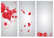 Hintergrundsätze mit Herzen Lizenzfreie Stockbilder