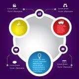 Hintergrundschablone des modernen Designs oder Websiteplan Information-Grafiken Vektor Lizenzfreie Stockfotografie