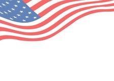 Hintergrundschablone mit einer amerikanischen Flagge Stockbilder