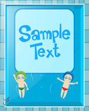 Hintergrundschablone mit Kindern im Pool Lizenzfreie Stockfotos