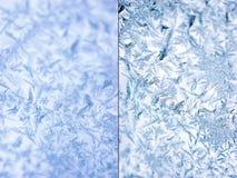 Hintergrundset. Kristalle des Eises. Stockbild