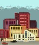 Hintergrundstadtstraßen in der flachen Art lizenzfreie abbildung