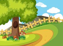 Hintergrundszene mit Straße und Baum Lizenzfreie Stockfotos