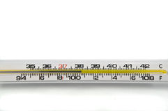 Hintergrundthermometer. Stockfoto