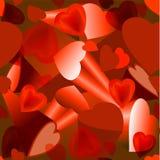 Hintergrundvolumen des Herzens für Valentinstag Stockfotografie