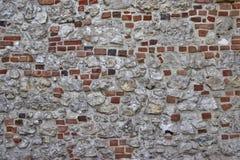 Hintergrundwand des weißen Steins und des roten Backsteins lizenzfreies stockbild