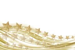 Hintergrundweiß und -gold mit Goldsternen Lizenzfreie Stockfotografie