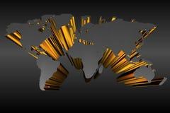 Hintergrundweltkarte 3D Lizenzfreie Stockfotos