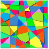 Hintergrundzusammenfassung von bunten Formen Stockbilder