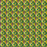 Hintergrundzusammenfassung von bunten Kreisen und von Quadraten Lizenzfreies Stockbild